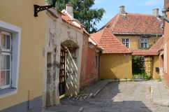Straten van oud Tallinn Royalty-vrije Stock Foto's