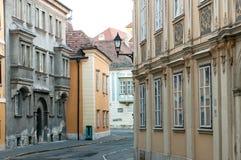 Straten van Oude Sopron Royalty-vrije Stock Afbeelding