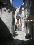 Straten van oude stad Kotor stock foto's