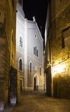Straten van oude stad van akko bij nacht israël Royalty-vrije Stock Foto