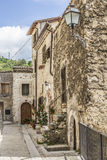Straten van Pacentro, Italië Stock Foto's