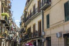 Straten van Palermo Stock Foto