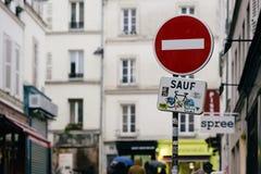 Straten van Parijs stock afbeeldingen