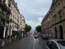 Straten van Parijs Gard du norde Frankrijk Stock Foto's
