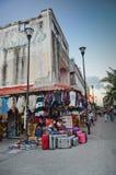 Straten van Playa del Carmen Royalty-vrije Stock Fotografie