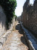 Straten van Pompei Stock Afbeelding