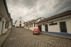 Straten van Popayan, Colombia Royalty-vrije Stock Foto's