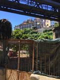 Straten van Porto Portugal in de Zomer stock afbeelding