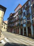 Straten van Porto Portugal - tijd voor St John Festival stock afbeelding