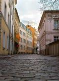 Straten van Riga stock fotografie