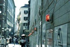 Straten van Salzberg, Oostenrijk Stock Fotografie
