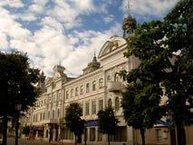 Straten van stad van Kazan - historische gebouwen Royalty-vrije Stock Afbeeldingen