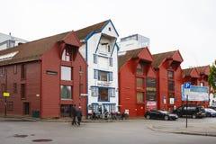Straten van Stavanger Royalty-vrije Stock Afbeeldingen