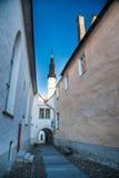 Straten van Tallinn Stock Fotografie