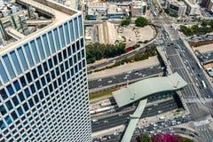 Straten van Tel Aviv van hierboven royalty-vrije stock foto's