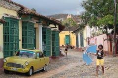 Straten van Trinidad na de regen Royalty-vrije Stock Fotografie