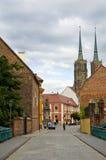 Straten van Wroclaw Stock Foto