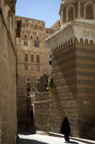 Straten van Yemen stock foto's