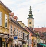 Straten van Zagreb, Kroatië royalty-vrije stock foto's