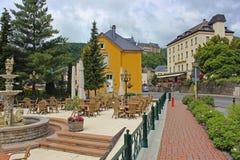 Straten in Vianden, Luxemburg Stock Foto's