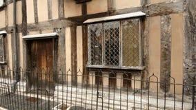 Stratford επάνω σε Avon, Warwickshire, UK - 26 Νοεμβρίου 2018: Τόπος γεννήσεως Shakespeare απόθεμα βίντεο