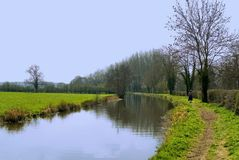 Stratford upon avon canal warw Royalty Free Stock Images