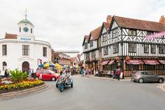 STRATFORD-UPON-AVON, der Geburtsort von William Shakespeare Lizenzfreies Stockfoto