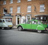 Stratford Upon Avon Festival of Motoring. England, May,4th,2015, Classic vintage green Citroen 2cv Stock Photo