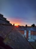 Stratford Upon Avon Sunset Royalty-vrije Stock Afbeeldingen