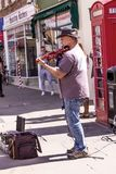 Musicians playing on the Henley Street at Stratford-upon-Avon Stock Image