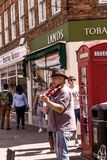 Musicians playing on the Henley Street at Stratford-upon-Avon Royalty Free Stock Images