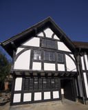 Stratford upon avon warwickshire england. Half timbered public library Stock Photography