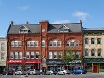 STRATFORD, CANADA, costruzioni vittoriane fotografia stock libera da diritti