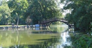 Stratford, Canada, une scène 4K de rivière d'Avon banque de vidéos