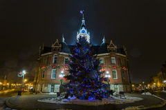 Stratford City Hall Christmas Decorations Imagens de Stock