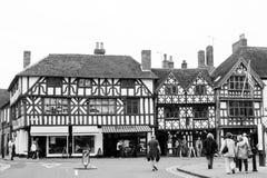Stratford-Em cima-Avon preto e branco Imagens de Stock