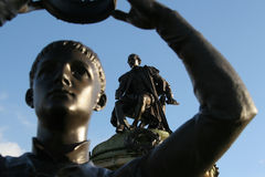 Stratford, a estátua de Shakespeare imagem de stock