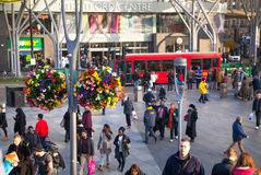Stratford international train and tube station, one of the biggest transport junction of London and UK. Stock Image