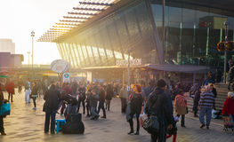 Stratford international train and tube station, one of the biggest transport junction of London and UK. Royalty Free Stock Photo