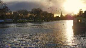 Stratford nach Avon England Großbritannien stock footage