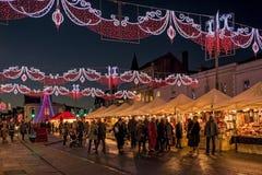 Stratford på Avon julmarknad royaltyfria bilder