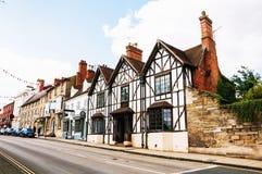Stratford på Avon, UK historiskt gammalt för byggnader arkivfoton
