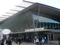 Stratford Railway station Royalty Free Stock Photos