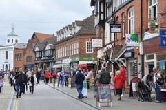 Stratford-sobre-Avon en Inglaterra Imágenes de archivo libres de regalías
