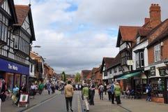 Stratford-sobre-Avon en Inglaterra Imagenes de archivo