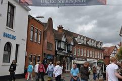 Stratford-sobre-Avon en Inglaterra Imagen de archivo