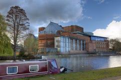 Stratford sobre el teatro de Avon foto de archivo libre de regalías