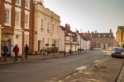 Stratford sur avon au R-U et à la ville avec de beaux bâtiments image libre de droits