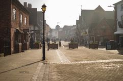 Stratford sur la ville d'avon avec la rue image libre de droits