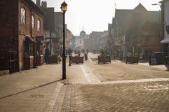 Stratford sur la ville d'avon ayant la rue vide image stock